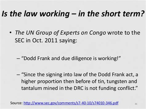 dodd frank act section 1502 dodd frank section 1502 significance and public policy
