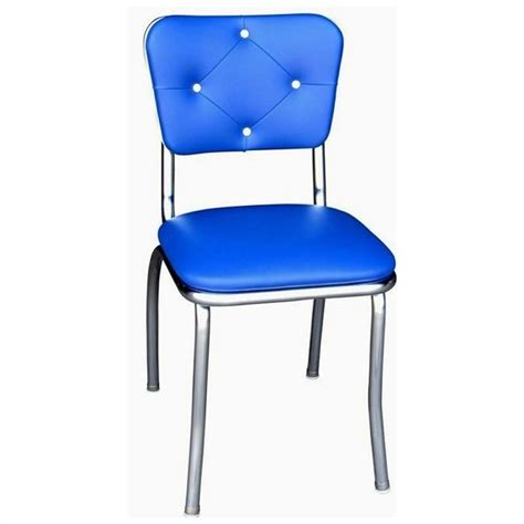 Royal Blue Dining Chairs Richardson Seating Retro 1950s Button Tufted Diner Dining Chair In Royal Blue 4140rbl