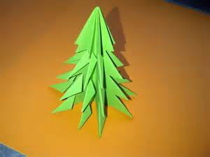 tannenbaum falten weihnachtsbaum selber basteln ideen