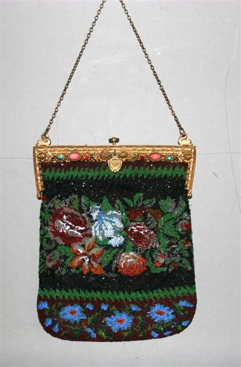 antique beaded purses antique beaded purse w jeweled top kralentasjes enz