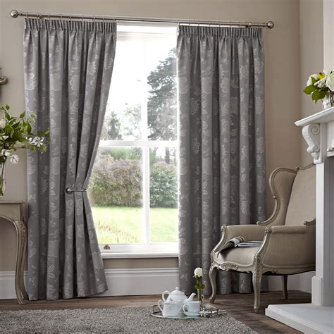 floral thermal curtains floral jacquard thermal curtains pair ready made