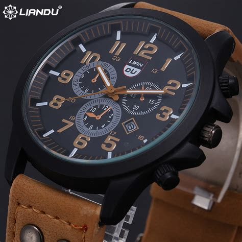 liandu mens sport watches luxury top brand 2015 new casual