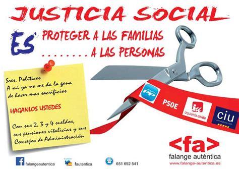 imagenes sobre justicia social falange aut 233 ntica inicia una ca 241 a por la justicia