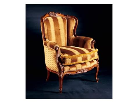 Padded Armchair Made Of Inlaid Wood Antique Style Idfdesign