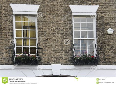 Tudor Style Windows Decorating Tudor Style Decor White Windows Stock Photo Image 40224699