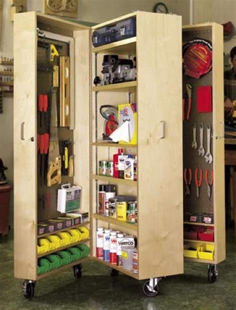 Wooden Tool Storage Cabinet Plans by Woodworks Craft Supplies Woodworking Projects Childrens