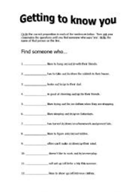 Getting To You Worksheets by 15 Best Images Of Find Who Worksheets Elementary Class