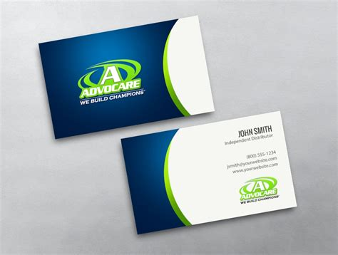 advocare business cards template advocare business card 43