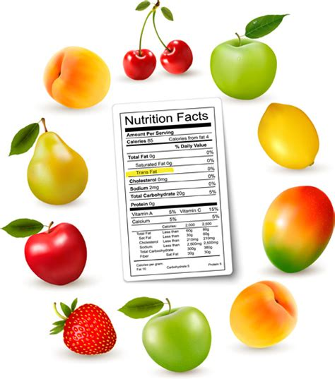 fruit nutrition facts fruits with nutrition facts vector free vector in