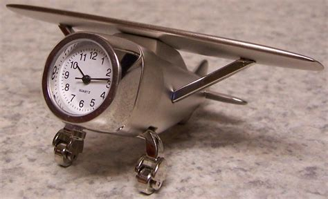 Airplane Desk Clock welcome to the manor clock weather stations