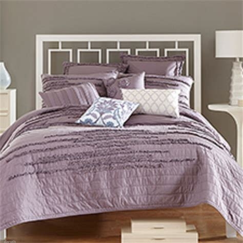 nostalgia home king quilt neveah hyacinth purple ruffle