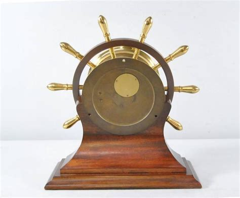 Clock L Stand chelsea ship s bell yacht wheel pilot model clock with stand at 1stdibs