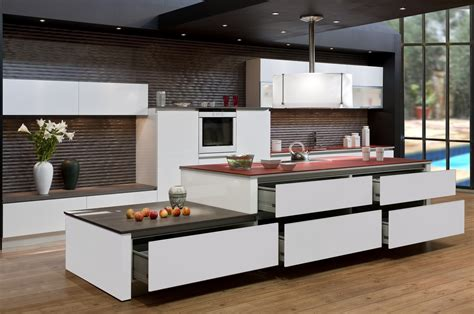 poign馥 de meuble cuisine achat duune cuisine avec meubles sans poigne modle mo