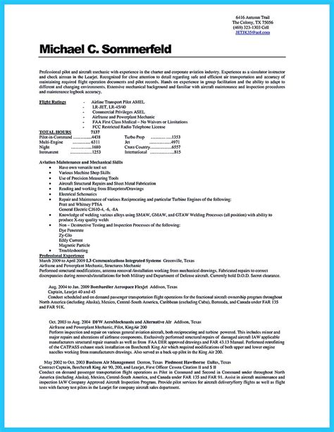 Aviation Resume by Learning To Write A Great Aviation Resume