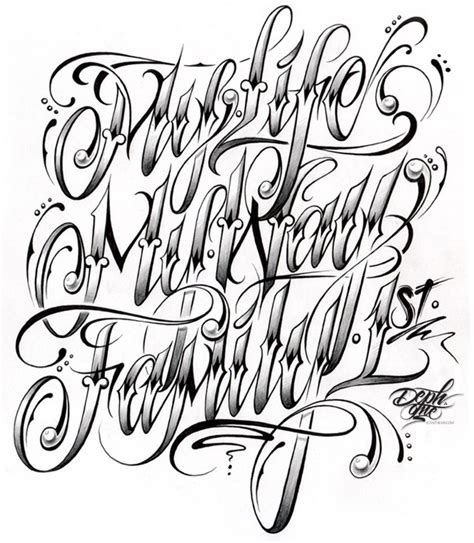 tattoo alphabet different handwriting styles trevino words of wisdom pinterest tattoo fonts and