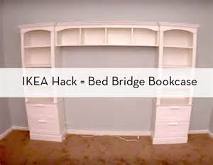 diy bookshelf headboard how to build a quot bed bridge quot bookcase using ikea bookcases 187 curbly diy design decor