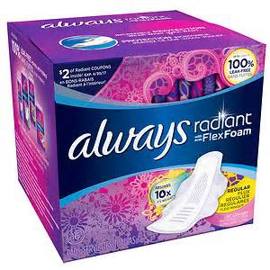 Always Infinity Radiant Always Radiant Infinity Pads With Flexi Wings Fresh Scent