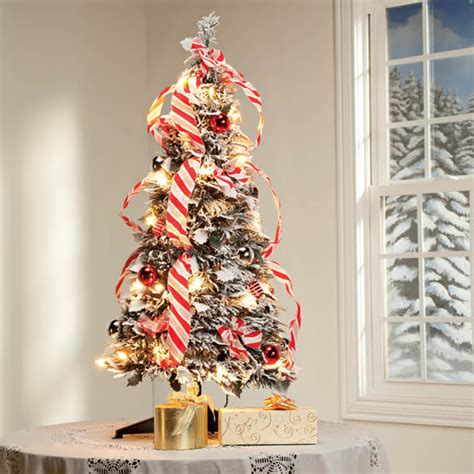 xmas trees frosted pull up 3 ft frosted pull up tree trees walter