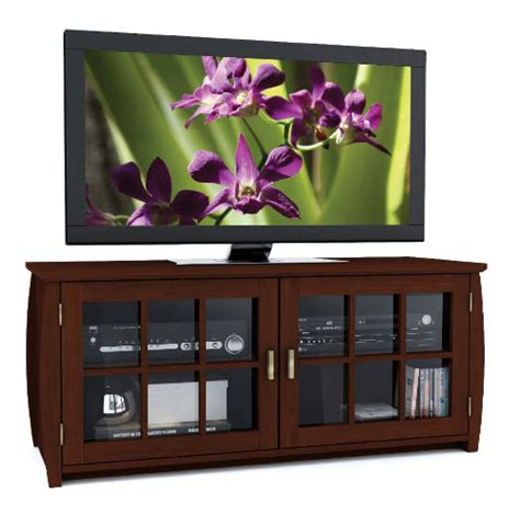 Tv Component Cabinet With Glass Doors by Tv Stands With Glass Doors Whereibuyit