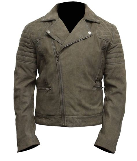 Jaket Suede Suede Jacket mens classic motorcycle grey suede leather jacket usa jacket