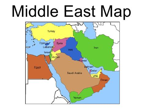 middle east map landforms geography and climate
