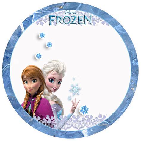 etiquetas circulares y toppers de frozen para decorar frozen toppers para imprimir gratis ideas y material