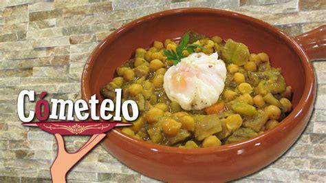 canal sur recetas cocina cometelo garbanzos a la moruna con setas una original receta en