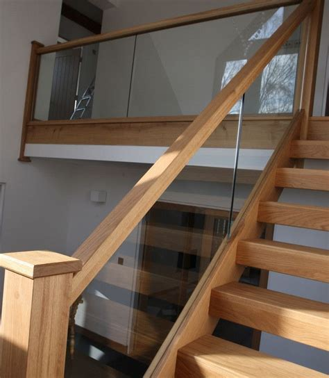 wood stair banisters 25 best images about glass stair railing on pinterest