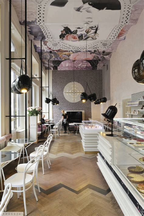 Shop Ceiling Design by Awesome Coffee Shop Interior With Feminine