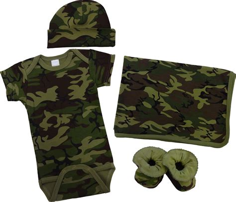 Green camo baby clothes gift set 4 pc baby n toddler