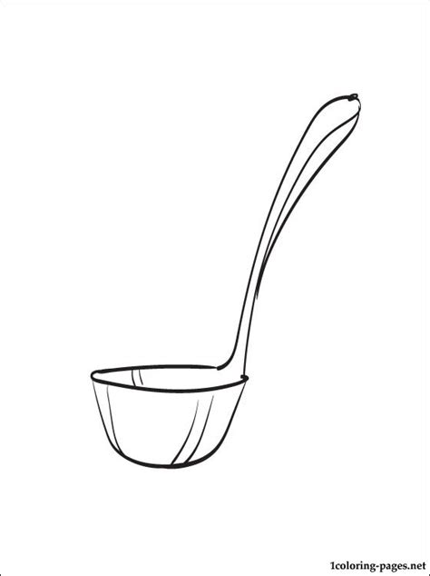 coloring pages for kitchen utensils ladle coloring page coloring pages