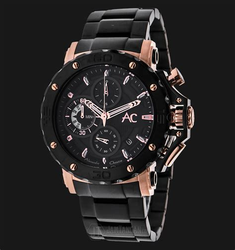 Jam Tangan Alexandre Christie Ac 9205 alexandre christie ac 9205 mc bbrba chronograph black