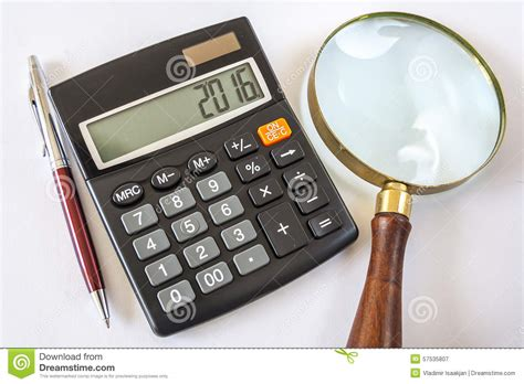 new year calculator new 2016 year digits on calculator stock photo image