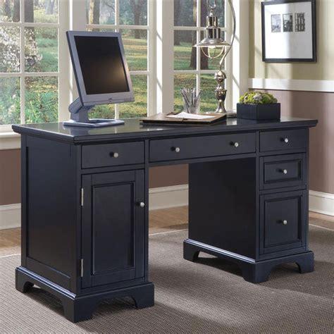 Black Office Desk Furniture Office Furniture Home Styles Bedford Pedestal Desk In A Black Finish Kitchensource