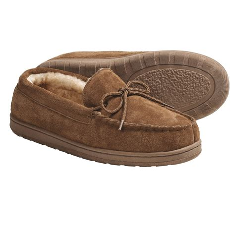 moccasin slippers mens lamo footwear moccasin slippers for save 33