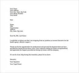 Resignation Letter Ms Word by Resignation Letter Template 10 Free Word Excel Pdf Format Free Premium