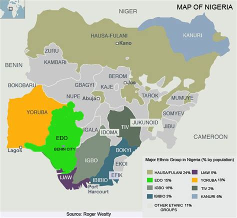 nigeria on a world map map of nigeria otedo