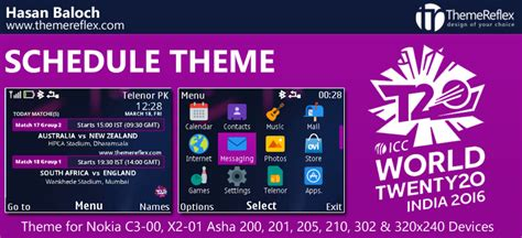 nokia c3 themes with media player skin icc world t20 schedule themes for nokia series 40 devices