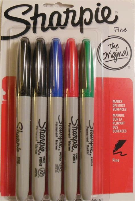 colored permanent markers sharpie point permanent markers 5 colored markers ebay