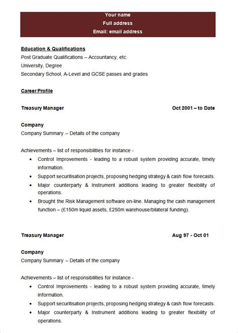 Blank Resume Template Pdf by Blank Resume Formats Resume And Cover Letter Resume