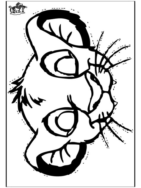 free coloring pages of lion king mask