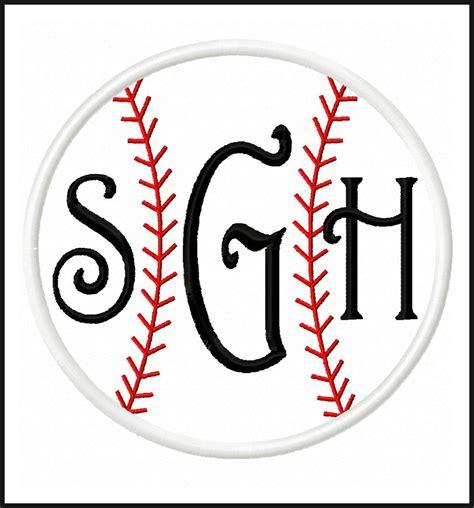 Baseball Applique Monogram Frame Baseball Designs