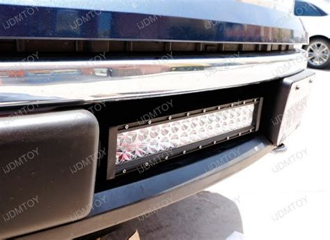 Led Light Bar F150 96w Lower Bumper Grill Mount High Power Led Light Bar For 09 14 Ford F150 F 150 Ebay