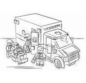 Ausmalbild Lego Krankenwagen  Ausmalbilder Kostenlos Zum Ausdrucken