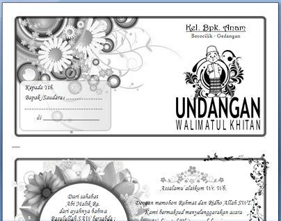 contoh undangan khitanan word design bild