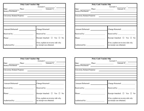 this printable petty cash voucher includes room to list multiple