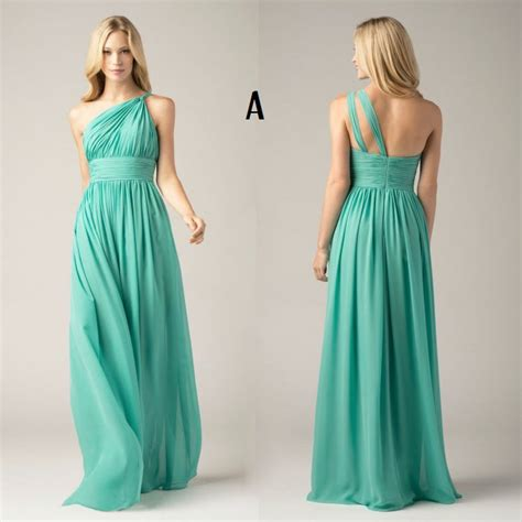 chiffon hairstyles custom made green colored chiffon 4 styles prom party