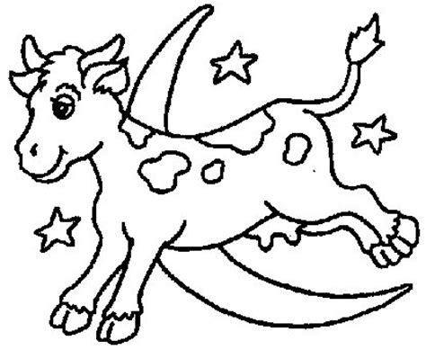 cow jumping coloring page books in the home program goodnight moon