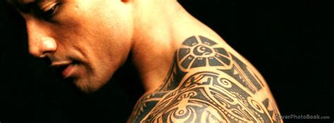 dwayne johnson tattoo cover the rock dwayne johnson tattoo facebook cover celebrity