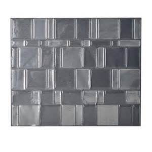 Peel And Stick Backsplash Home Depot Smart Tiles Tango Onyx 11 55 In X 9 64 In Peel And Stick